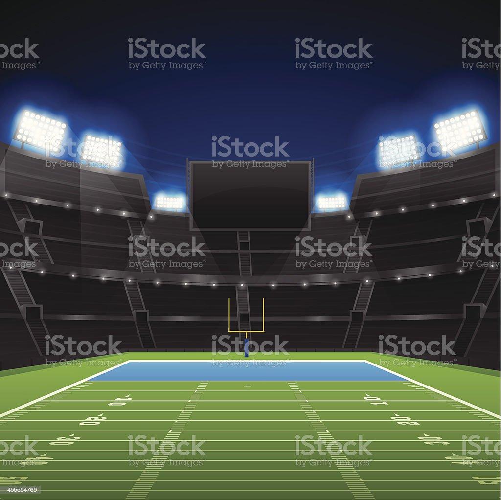 Football Stadium vector art illustration