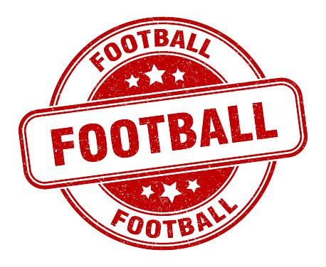 football stamp. football round grunge sign. label