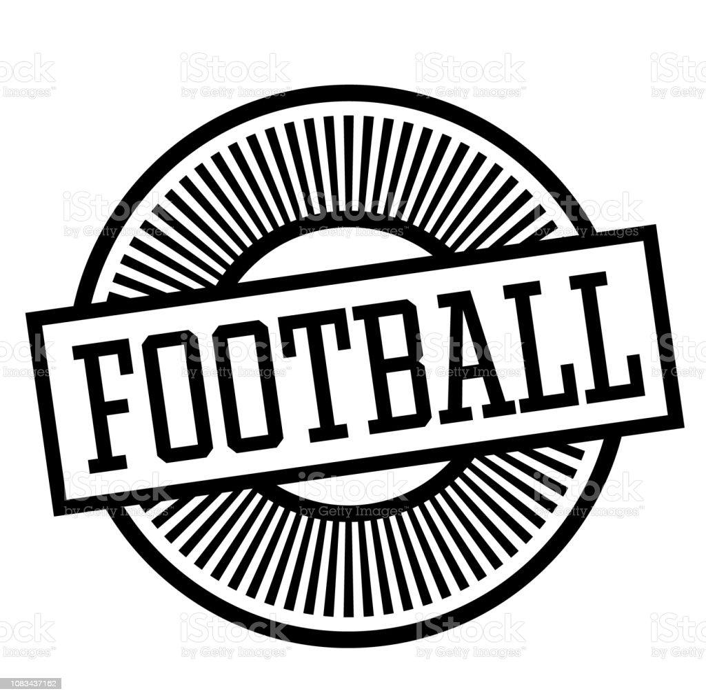 futebol carimbo, etiqueta - ilustração de arte em vetor