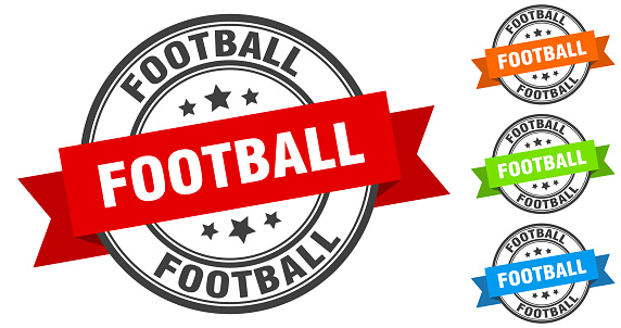 football stamp. round band sign set. label