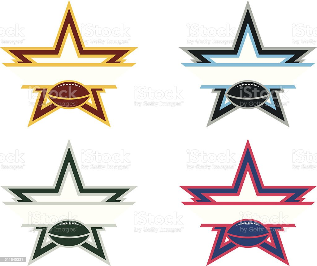 Football Star Logo royalty-free football star logo stock vector art & more images of all star