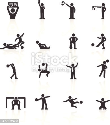 Football Stick Man Icons. Layered & grouped for ease of use. Download includes EPS 8, EPS 10 and high resolution JPEG & PNG files.