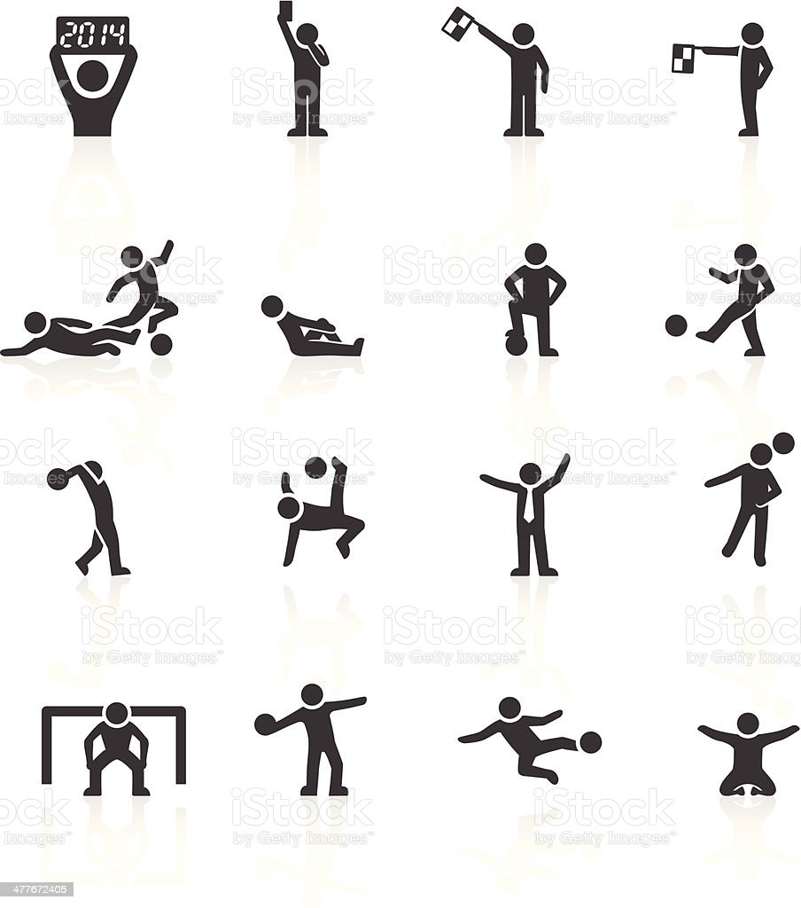 Football Stickman Icons vector art illustration