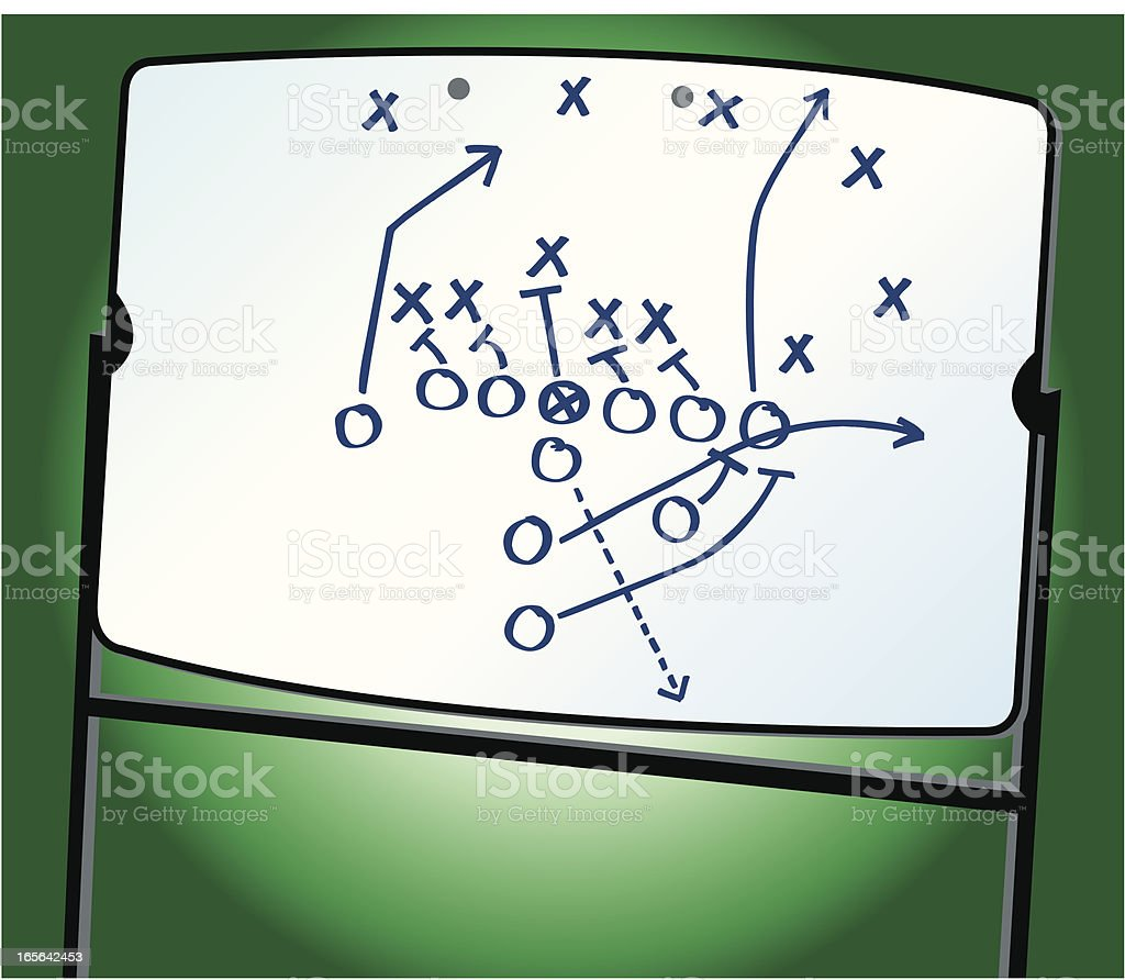Football strategy play diagram on whiteboard stock vector art football strategy play diagram on whiteboard royalty free football strategy play diagram on whiteboard stock pooptronica Images