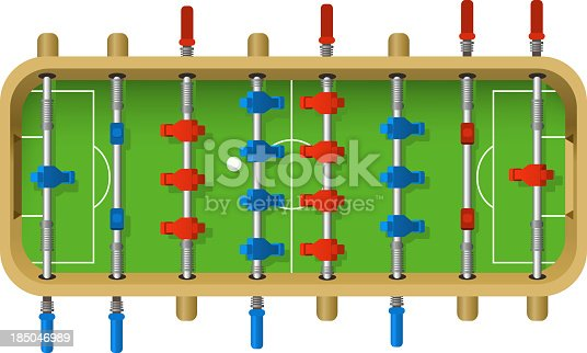Football Table vector illustration. Table top game, kicker, footzy, bar football, table soccer, baby foot, futbolin.