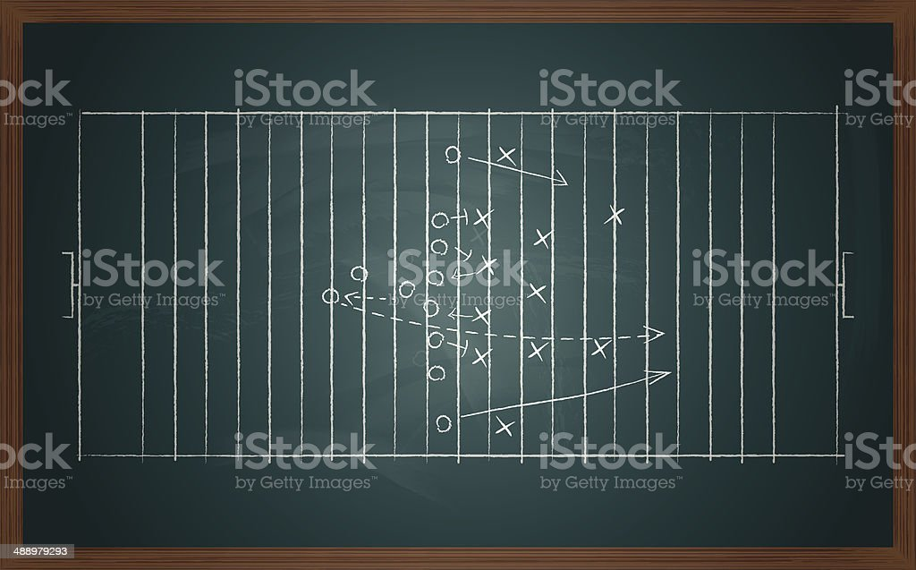 football tactic on board vector art illustration