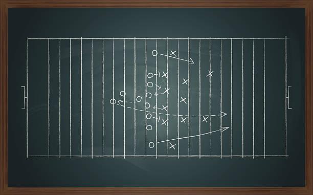 tactic en placa de fútbol - ilustración de arte vectorial