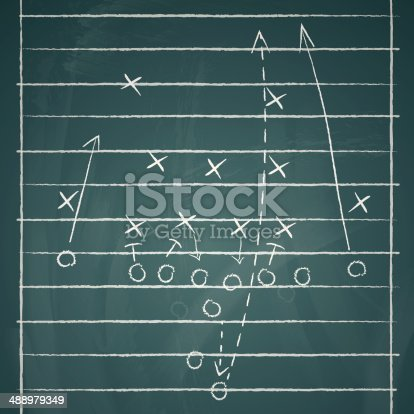 vector image of a football tactic on board. Transparency and blend effects used.