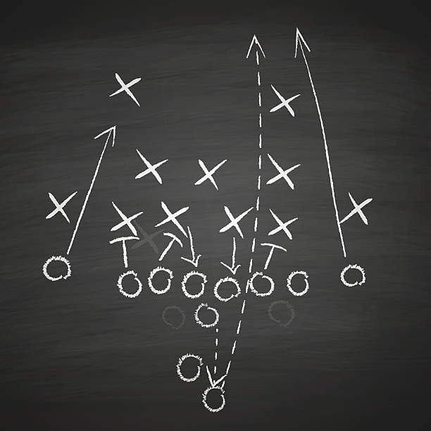 football tactic on board - football stock illustrations, clip art, cartoons, & icons