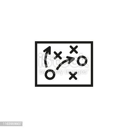 istock Football tactics line icon 1163959937