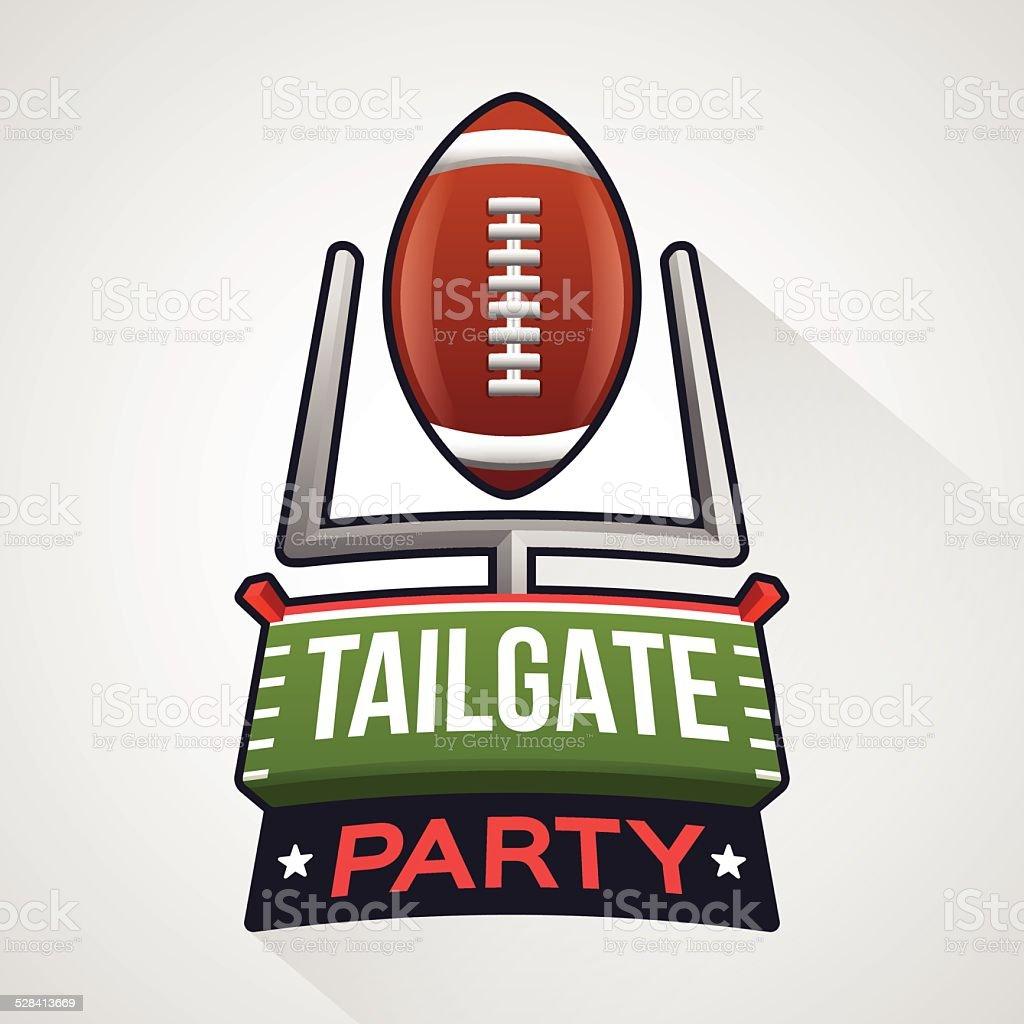 Football Tailgate Party vector art illustration