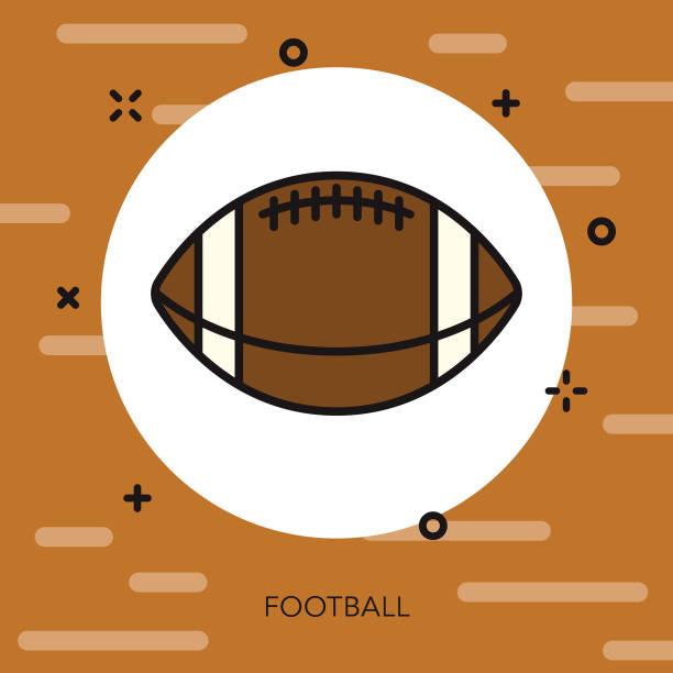 football thin line autumn icon - thin line fonts stock illustrations
