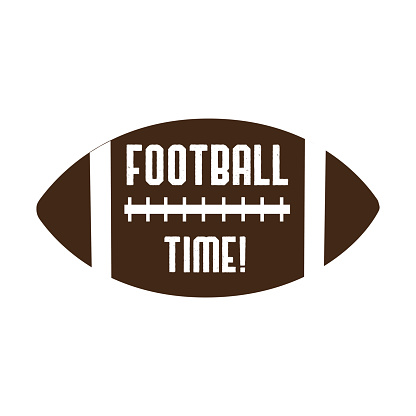 Football time text, on American football vector graphics. For t-shirt, pster, banner, souvenir.