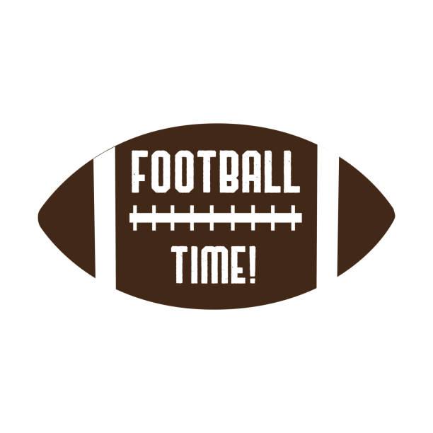 illustrations, cliparts, dessins animés et icônes de texte de temps de football, sur les graphiques de vecteur de football américain. pour t-shirt, pster, bannière, souvenir. - sports lycée