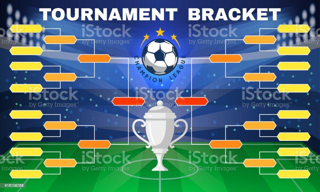 Football tournament banner vector art illustration