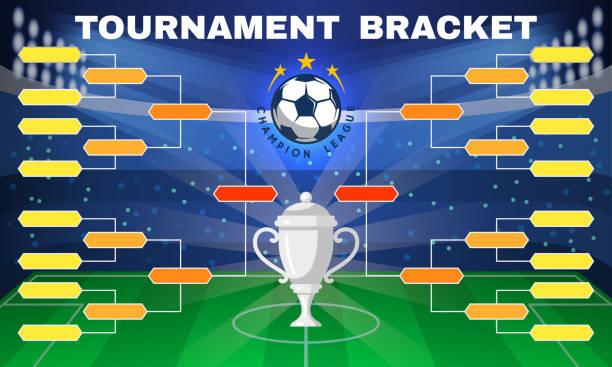 stockillustraties, clipart, cartoons en iconen met voetbal toernooi banner - kampioenschap