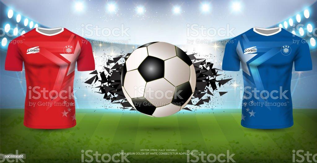 2e701a5c6d Ilustração de Modelo De Torneio De Futebol Para Evento De Esporte ...