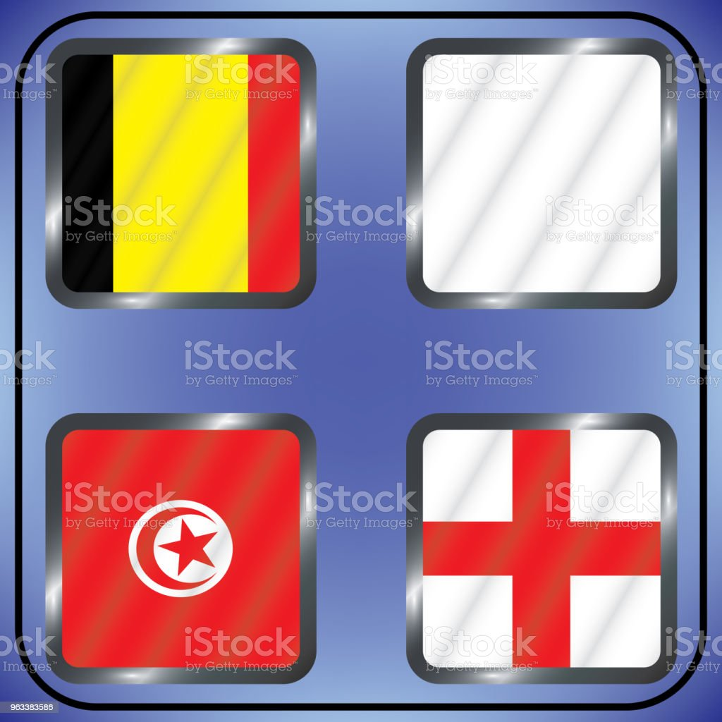 Football. Tournament. Vector flags. Group G. - Grafika wektorowa royalty-free (Afryka)
