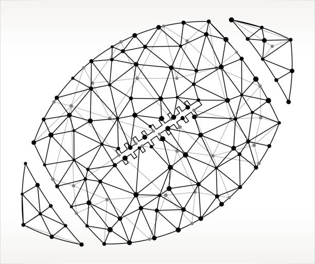 Football  Triangle Node Black and White Pattern vector art illustration