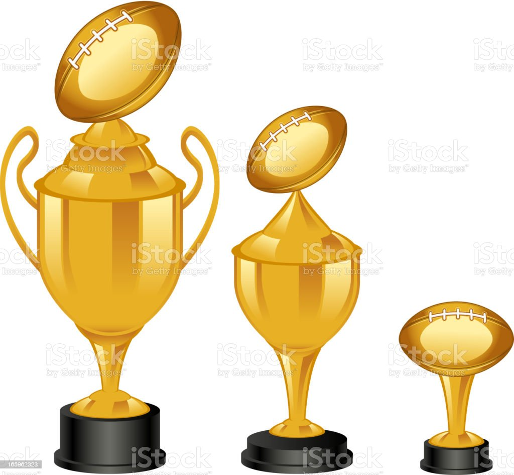 Football trophies royalty-free football trophies stock vector art & more images of achievement