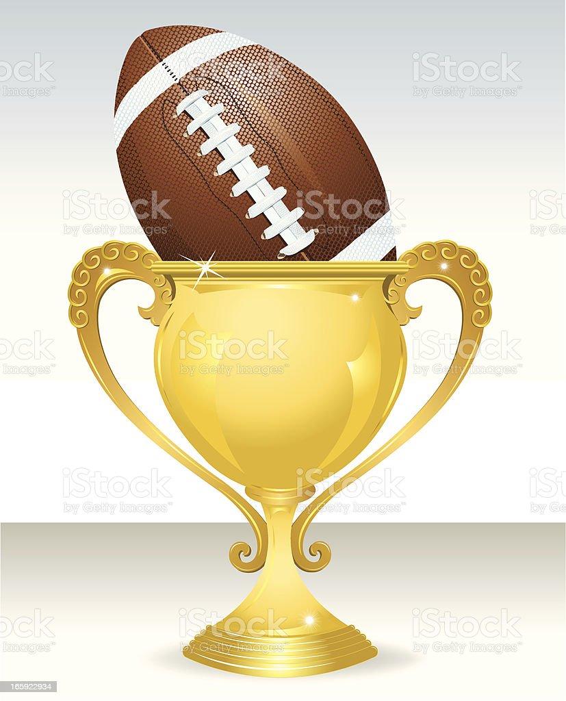 Football Trophy - Award vector art illustration