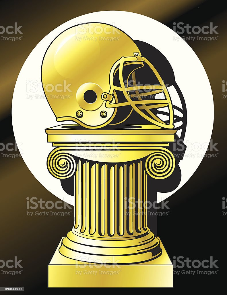 Football Trophy royalty-free football trophy stock vector art & more images of all star