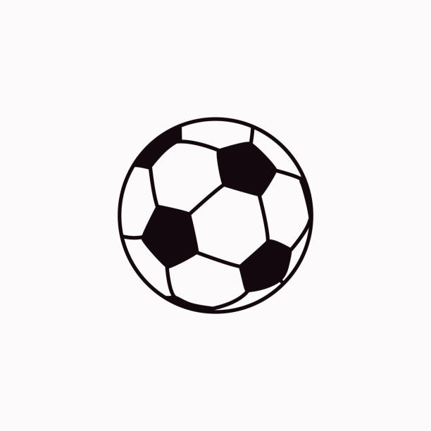 illustrations, cliparts, dessins animés et icônes de icône de football de vecteur. - football