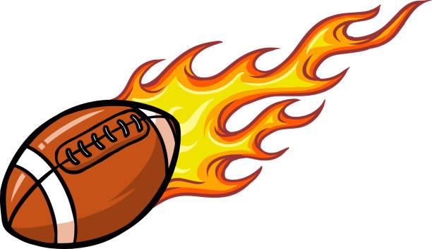 bildbanksillustrationer, clip art samt tecknat material och ikoner med fotboll - fotboll eld