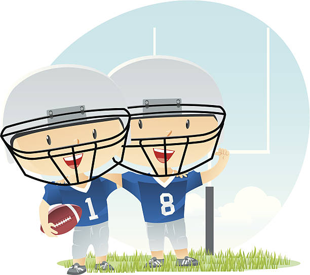 illustrations, cliparts, dessins animés et icônes de joueur de football - nuage 6