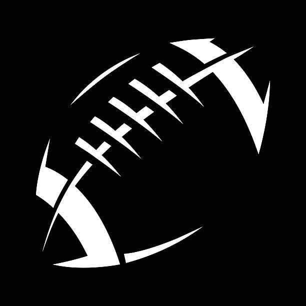 Football A vector illustration of a football with stitches and stripes line of scrimmage stock illustrations