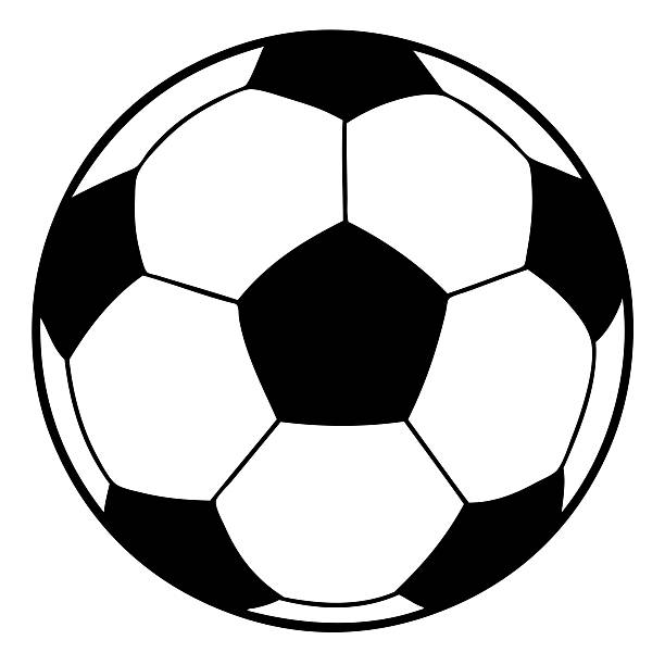 Football Clipart Black And White Vector