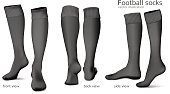 Football vector socks.