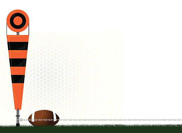 ilustrações de stock, clip art, desenhos animados e ícones de futebol campo de quarto e um marcador - primeiro down futebol americano