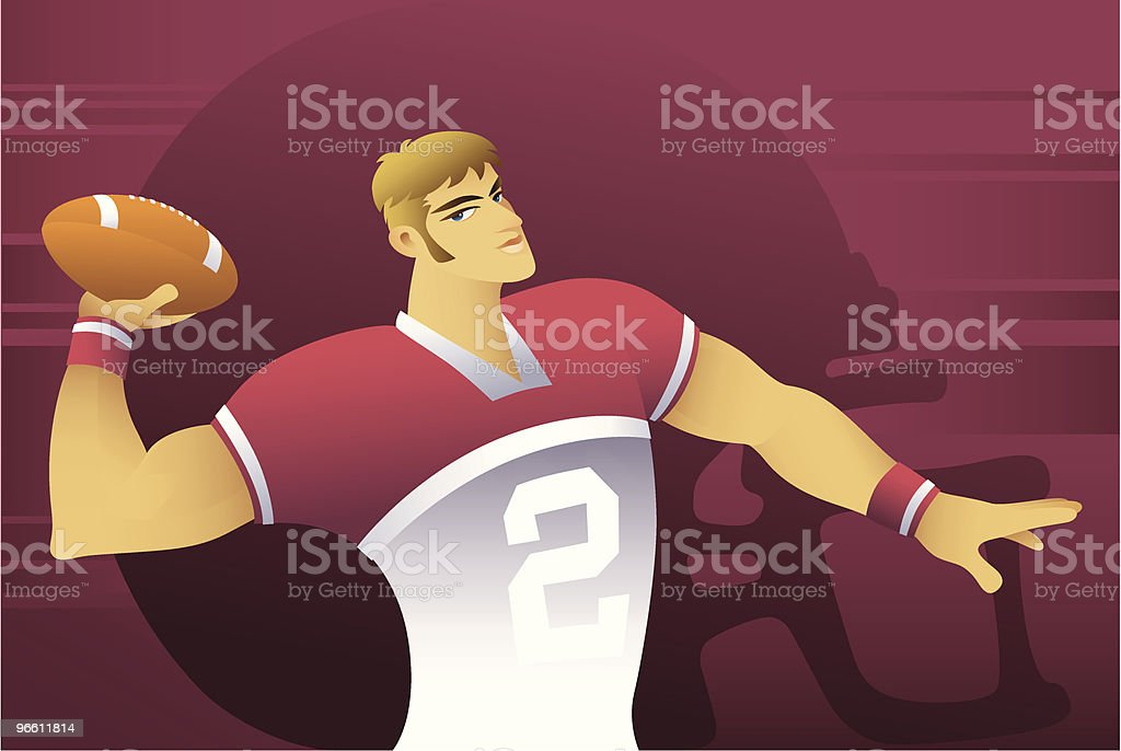 footballer - Royalty-free Adult stock vector