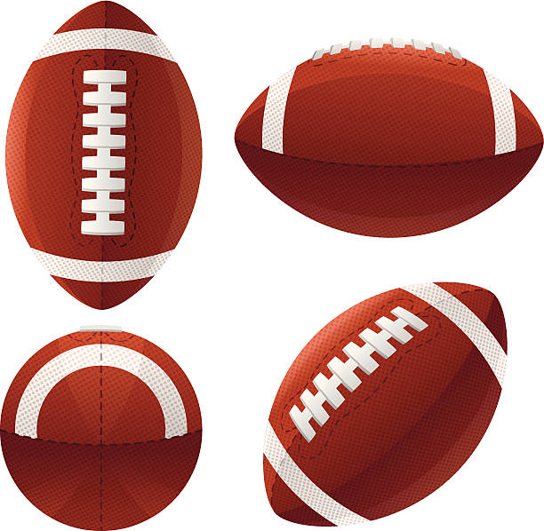 footballs - football stock illustrations, clip art, cartoons, & icons
