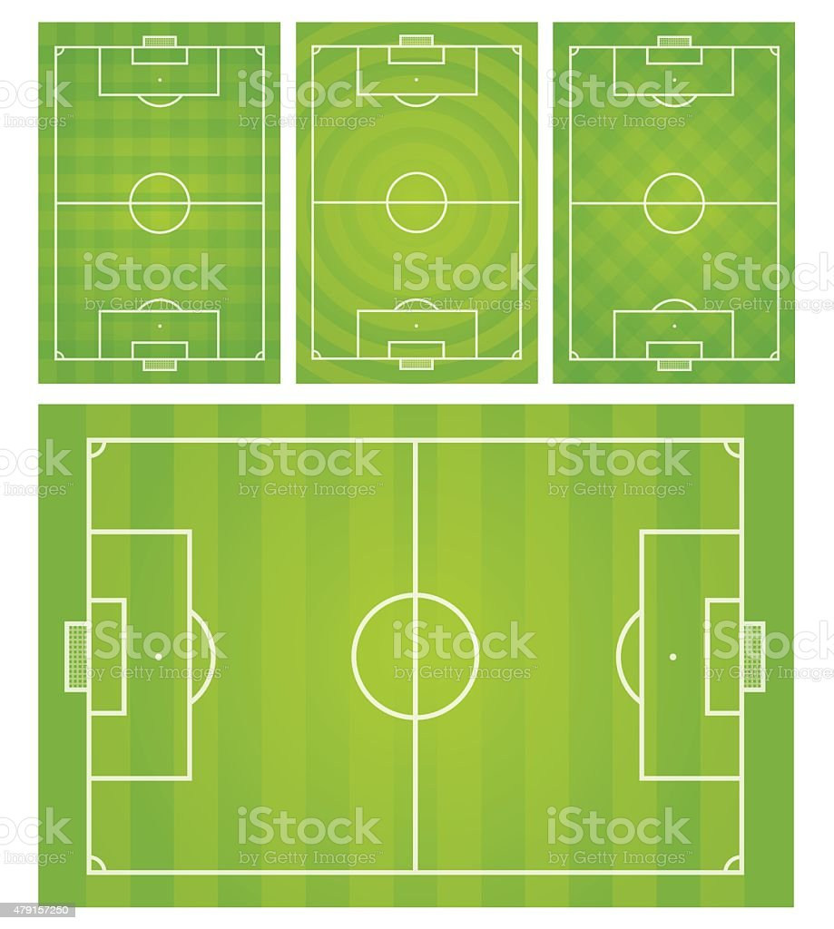 Football,Soccer field vector illustration vector art illustration