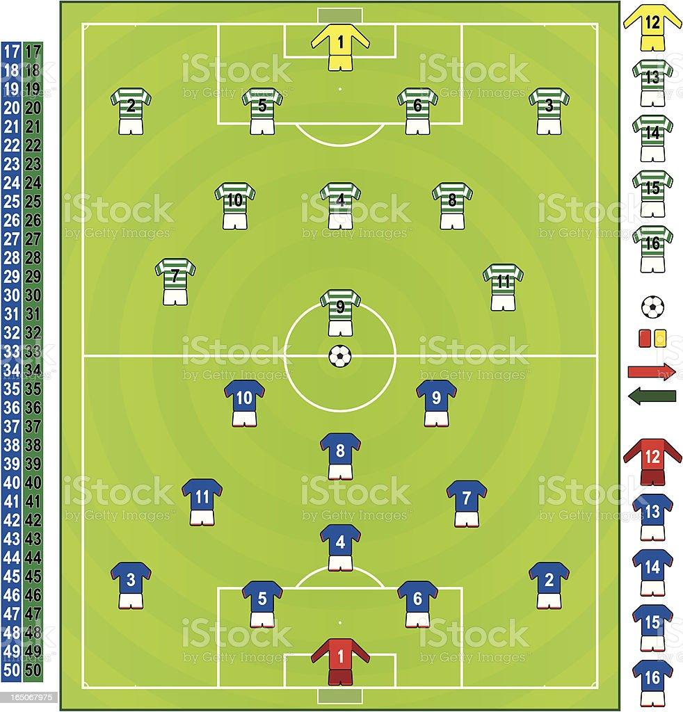 Football/soccer strips SCO royalty-free stock vector art