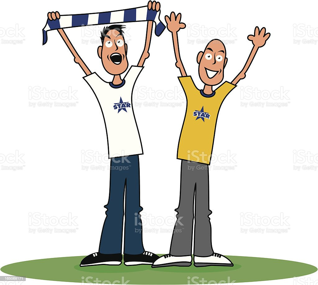 Footie Fans royalty-free footie fans stock vector art & more images of adult