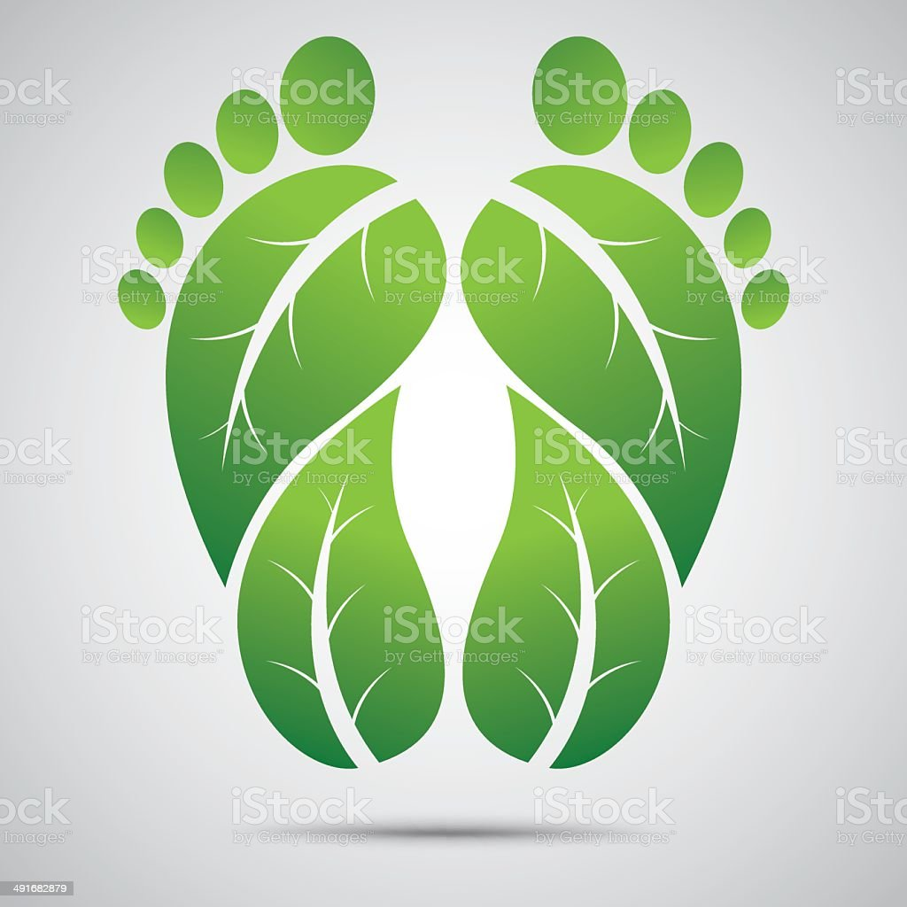 footprint Eco Friendly Vector illustration royalty-free stock vector art