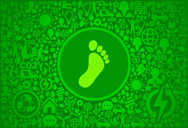 fußabdruck umgebung grüne symbol vektormuster - altglas stock-grafiken, -clipart, -cartoons und -symbole