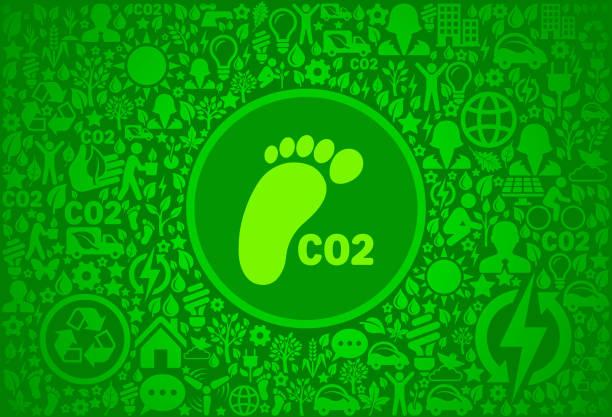 co2-fußabdruck umgebung grüne symbol vektormuster - altglas stock-grafiken, -clipart, -cartoons und -symbole