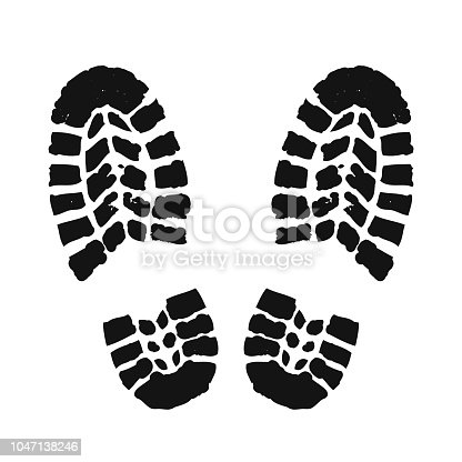 Footprint human silhouette – stock vector
