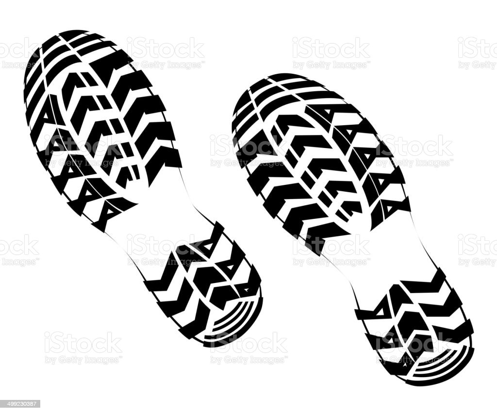 Tennis Shoe Print Vector