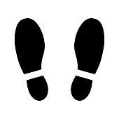 Footprint shoes symbol.