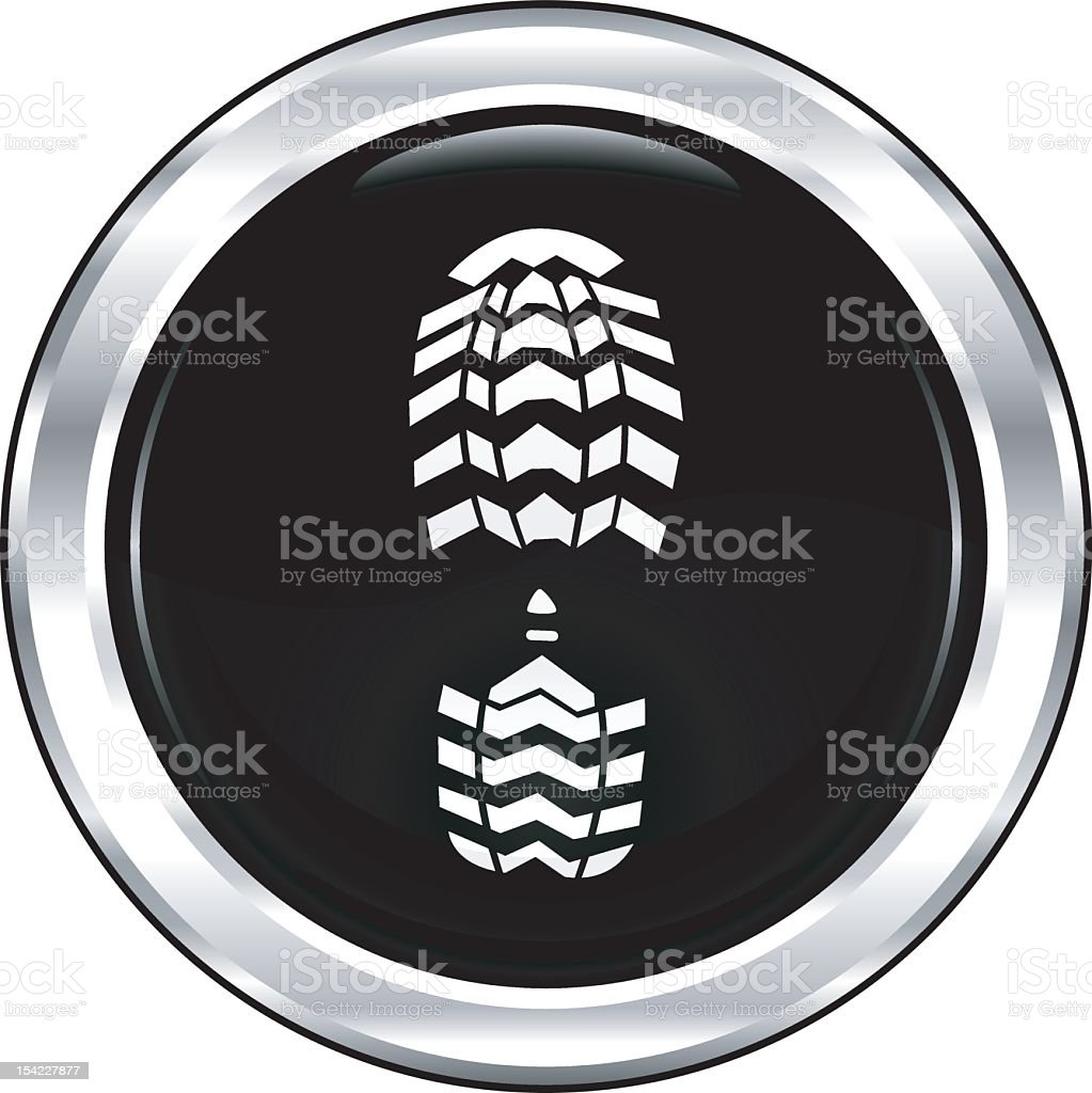 Footprint | The Blackest Icon Series royalty-free footprint the blackest icon series stock vector art & more images of black color