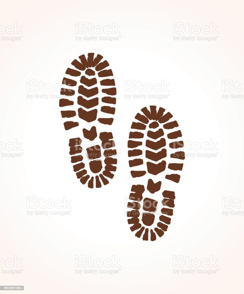 Footprint vector art illustration