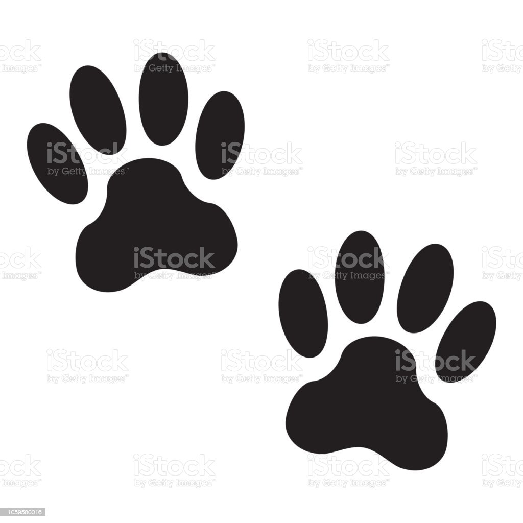 白い背景で隔離の犬の足跡動物の足のアイコンまたは記号ベクトルの図 アイコンのベクターアート素材や画像を多数ご用意 Istock