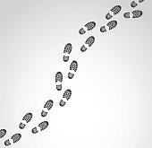 Footprints vector illustration.