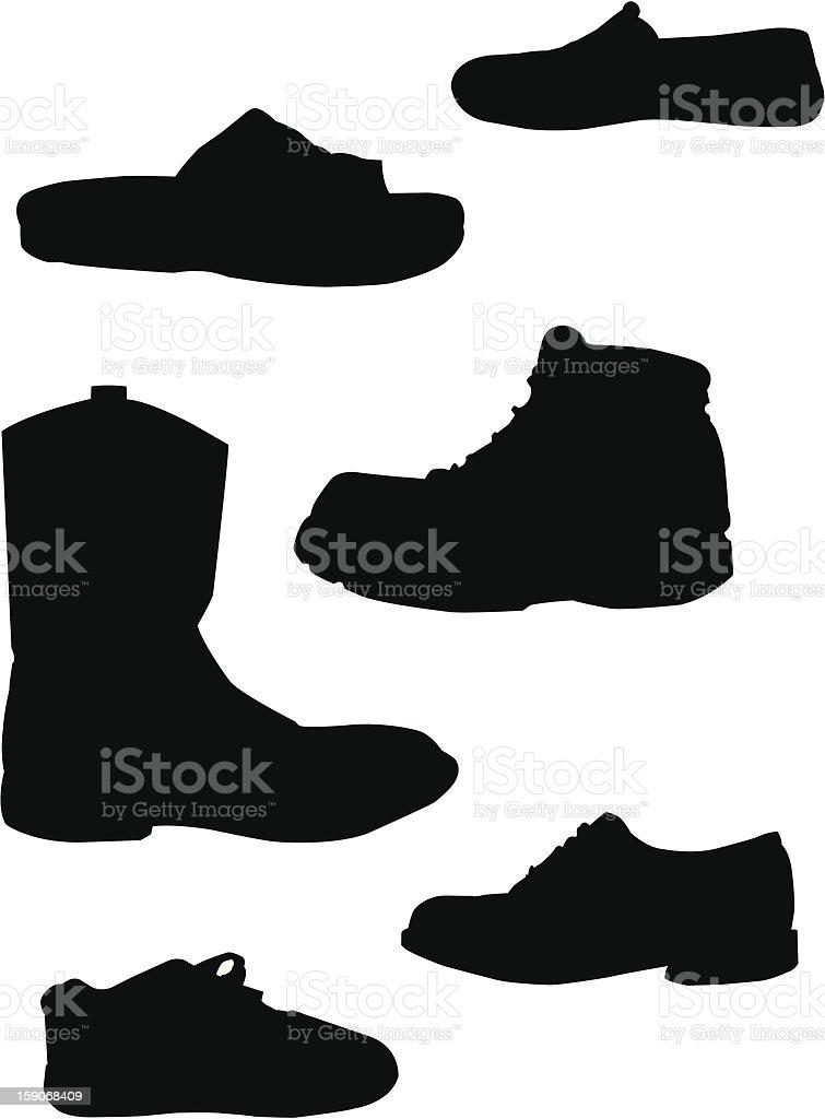 Footwear. vector art illustration