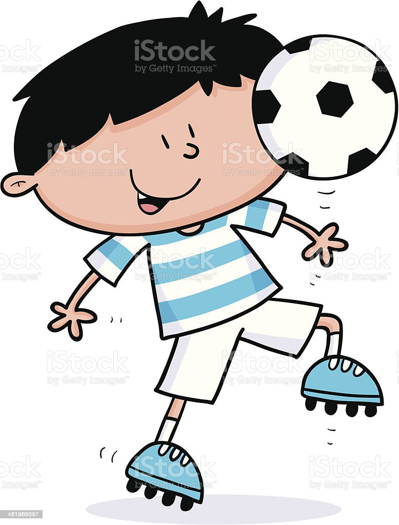 Footy Kid royalty-free footy kid stock vector art & more images of ball